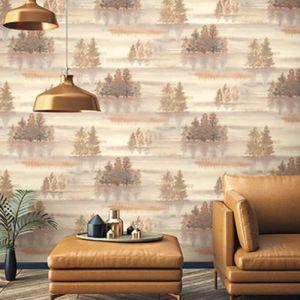 Seabrook Wallcoverings Carl Robinson Sea Glass Oxgate Wallpaper Room Setting