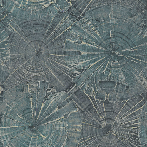CR76002 Seabrook Wallcoverings Carl Robinson Sea Glass Opal Wallpaper Blue