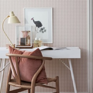 Brewster Wallcoverings Scandinavian Designers 2 Geometric Arne Wallpaper Room Setting