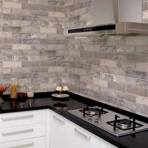 Patton Wallcoverings Norwall Illusions 2 Rustic Brick Wallpaper Room Setting