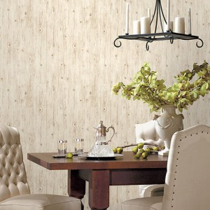 LL36206 Patton Wallcoverings Norwall Illusions 2 Rustic Wood Wallpaper Room Setting