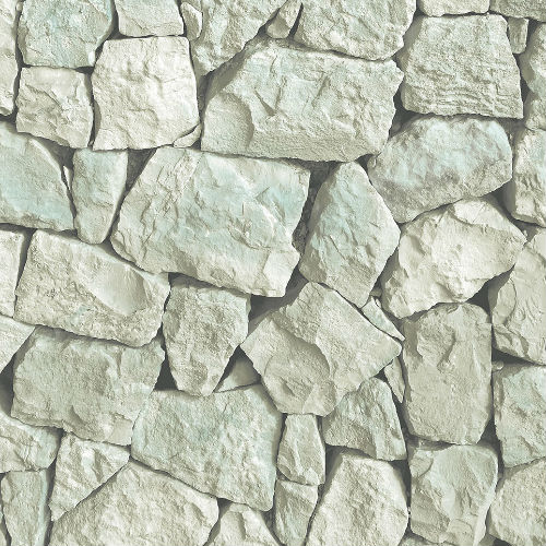 LL36219 Patton Wallcoverings Norwall Illusions 2 Tumbled Stone Wallpaper Aqua