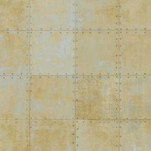 LL36229 Patton Wallcoverings Norwall Illusions 2 Rustic Tin Wallpaper Gold