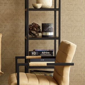 Brewster Wallcovering Eijffinger Siroc Geometric Kairo Wallpaper Room Setting