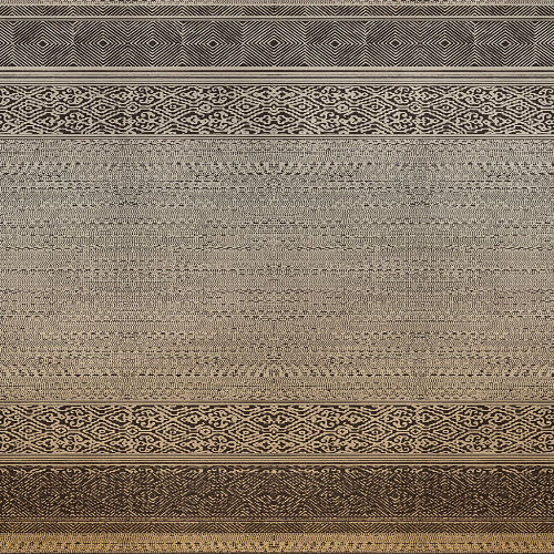 376091 Brewster Wallcoverings Eijffinger Siroc Tapestry Mural Burnt Umber