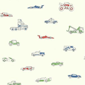 FA40301 Seabrook Wallcoverings Playdate Adventure Traffic Jam Wallpaper Primary