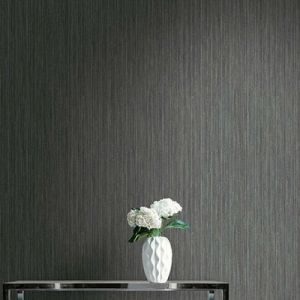 Seabrook Wallcoverings Texture Anthology Etten Coarse Stria Wallpaper Room Setting
