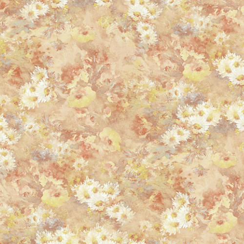 FI71301 Seabrook Wallcoverings French Impressionist Meadows Wallpaper Orange