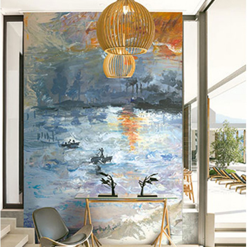 Seabrook Wallcoverings French Impressionist Away At Sea Mural Room Setting