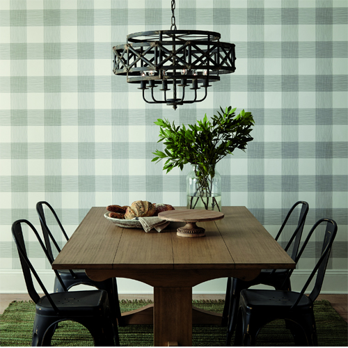 ME1520 York Wallcoverings Joanna Gaines Magnolia Home 2 Common Thread Wallpaper Room Setting
