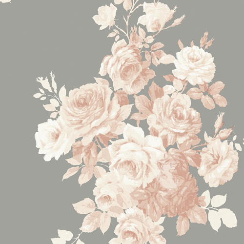ME1530 York Wallcoverings Joanna Gaines Magnolia Home 2 Tea Rose Wallpaper Peach