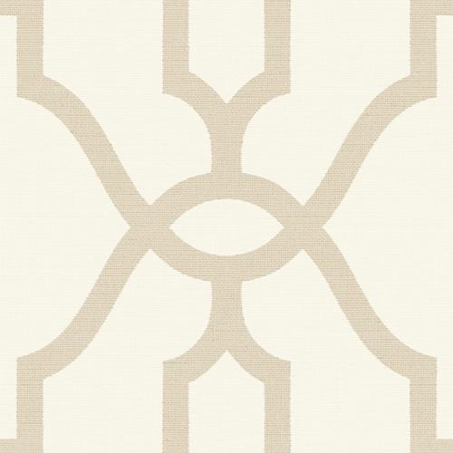 ME1554 York Wallcovering Joanna Gaines Magnolia Home 2 Woven Trellis Wallpaper Beige
