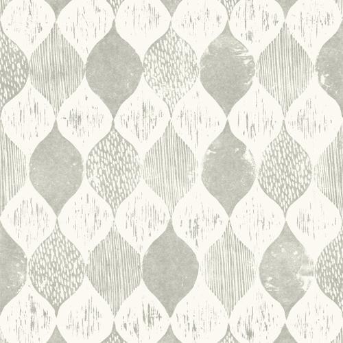 ME1564 York Wallcoverings Joanna Gaines Magnolia Home 2 Wood Block Print Wallpaper Gray