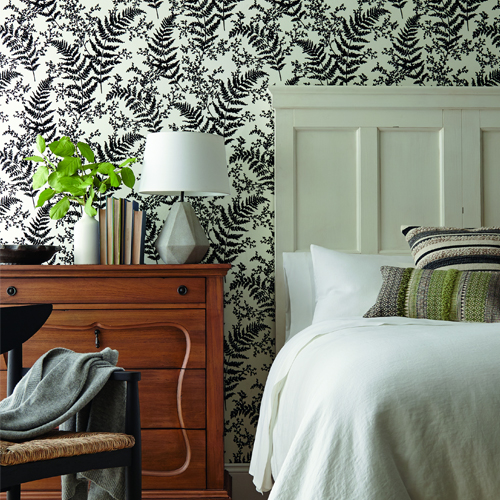 ME1583 York Wallcoverings Joanna Gaines Magnolia Home 2 Forest Fern Wallpaper Room Setting