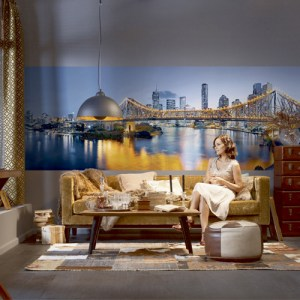 Brewster Wallcoverings Komar Into Illusions 2 Brisbane Mural Room Setting