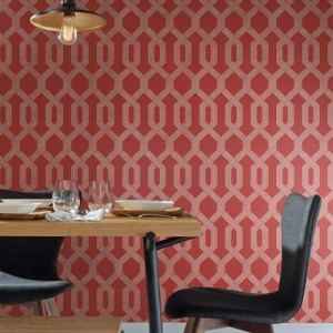 York Wallcovering Mid Century Viva Lounge Wallpaper Room Setting