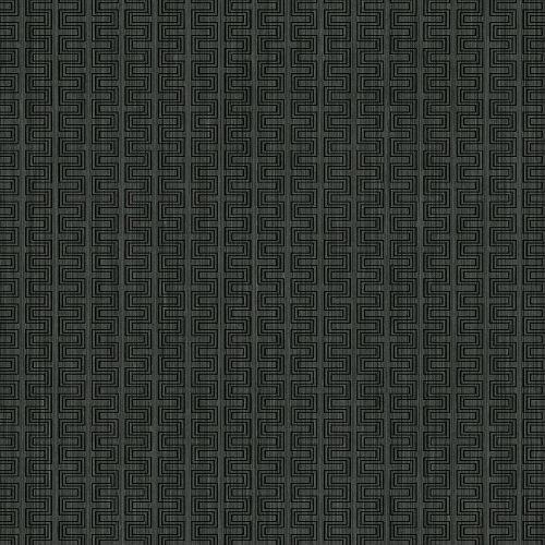 ZN51800 Seabrook Wallcoverings Texture Anthology Etten Geometric Wallpaper Charcoal