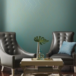 York Wallcovering Antonina Vella Modern Metals Ebb and Flow Wallpaper Room Setting