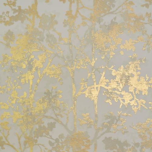 NW3582 York Wallcovering Antonina Vella Modern Metals Simmering Foliage Wallpaper Cream