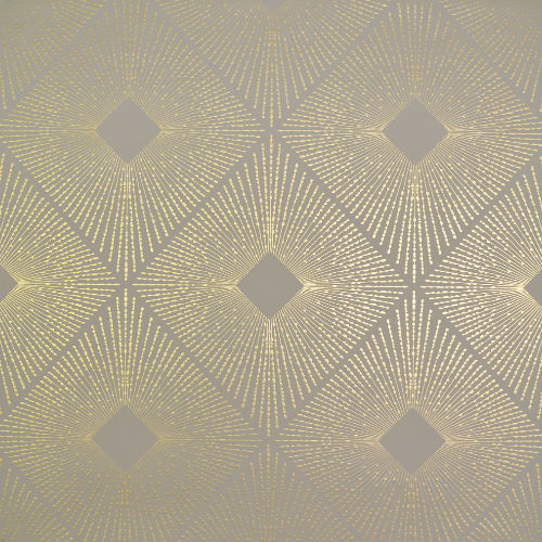 NW3590 York Wallcovering Antonina Vella Modern Metals Harlowe Wallpaper Khaki