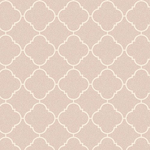 UK11301 Seabrook Wallcoverings Pear Tree Studio Mica Dotted Ogee Wallpaper Pink