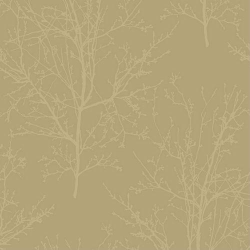 UK11503 Seabrook Wallcoverings Pear Tree Studios Mica Glass Bead Tree Wallpaper Gold