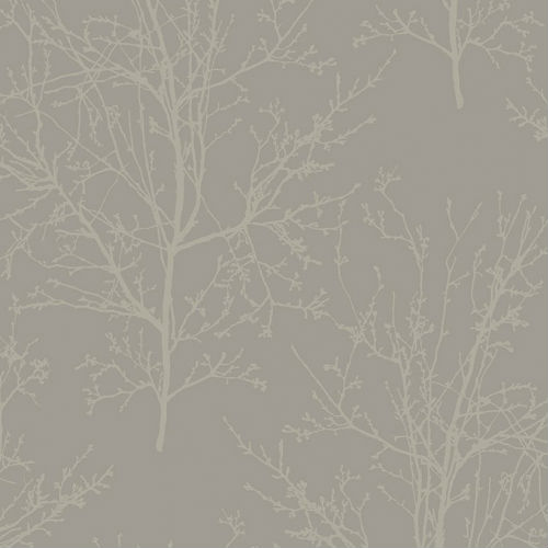 UK11508 Seabrook Wallcoverings Pear Tree Studios Mica Glass Bead Tree Wallpaper Grey