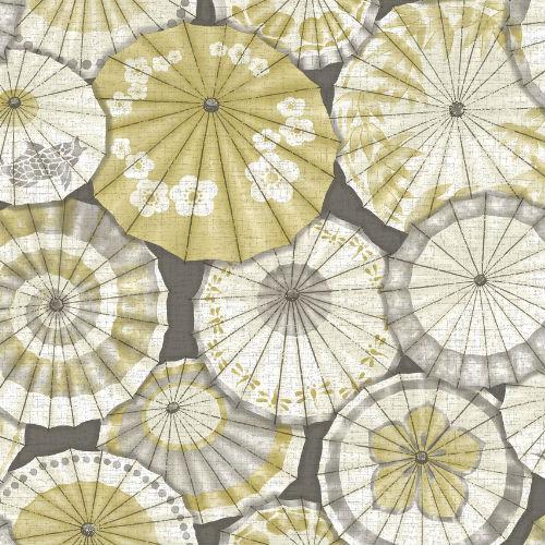 2764-24358 Brewster Wallcovering Mistral Mikado Parasol Wallpaper Ochre