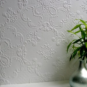 437-RD0137 Brewster Wallcovering Anaglypta XII Alfred Paintable Wallpaper