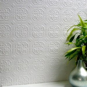 437-RD124 Brewster Wallcovering Anaglypta XII Derby Paintable Wallpaper