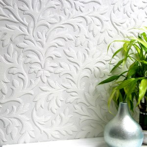 437-RD80026 Brewster Wallcoverings Anaglypta XII High Leaf Paintable Wallpaper