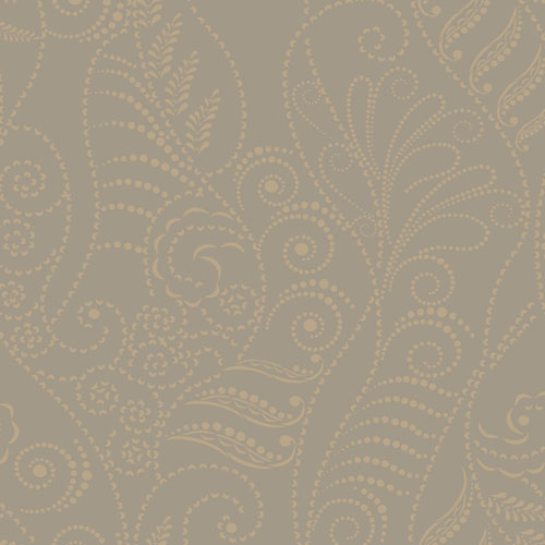 CP1267 York Wallcovering Candice Olson Breathless Modern Fern Wallpaper Taupe