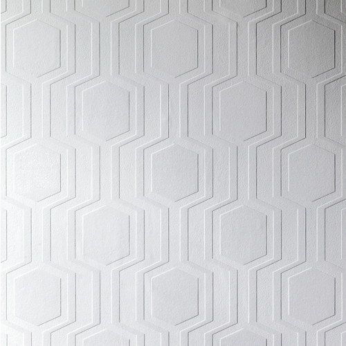 Brewster Wallcovering Anaglypta XII Hex Geometric Paintable Wallpaper