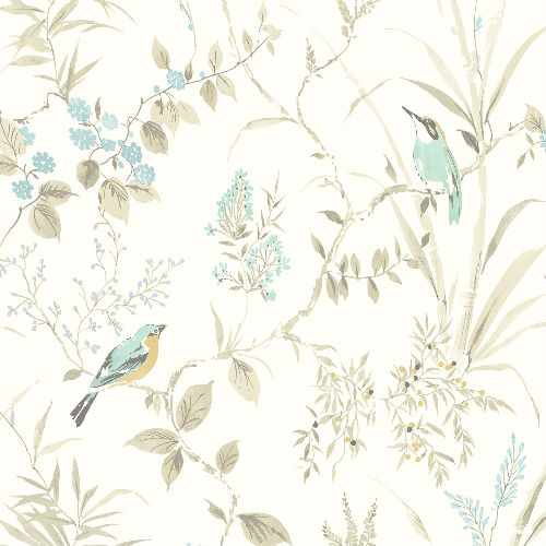3117-24171 Brewster Wallcovering Chesapeake The Vineyard Imperial Garden Botanical Wallpaper Beige