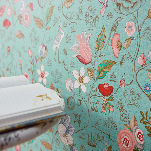 Espen floral wallpaper from pip studio by brewster lelands wallpaper 375002 brewster wallcovering eijffinger pip studio espen floral wallpaper room setting closeup mightylinksfo