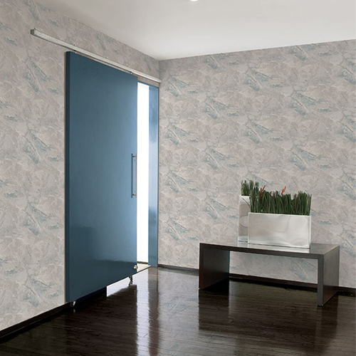 Patton Wallcovering Wall Finishes Faux Marble Wallpaper Room Setting
