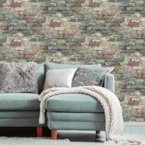 Brick Alley Peel and Stick Wallpaper