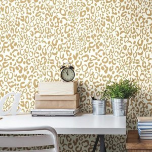 Leopard Peel and Stick Wallpaper