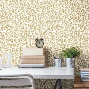 Leopard Peel and Stick Wallpaper