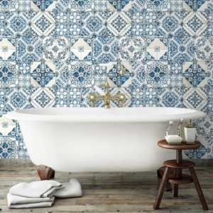 Mediterranean Tile Peel and Stick Wallpaper