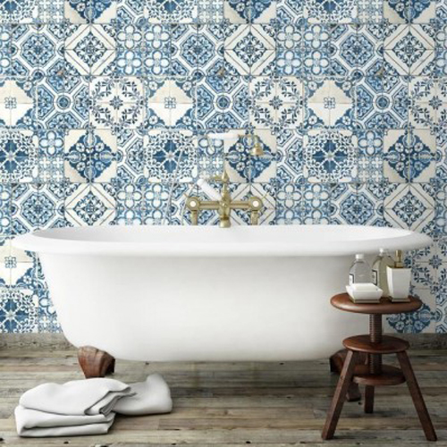 Mediterranean Tile Peel and Stick Wallpaper