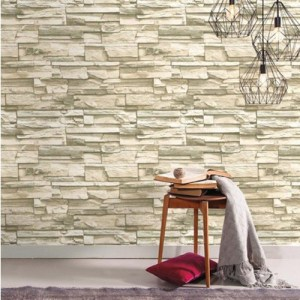 Stacked Stone Peel and Stick Wallpaper