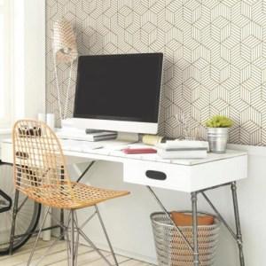 Striped Hexagon Peel and Stick Wallpaper