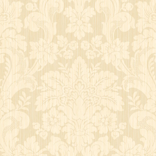 BM60503 Wallquest Wallcovering Balmoral Classical Damask Wallpaper Light Gold