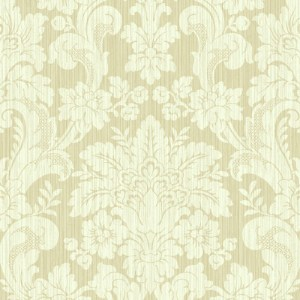BM60505 Wallquest Wallcovering Balmoral Classical Damask Wallpaper Gold