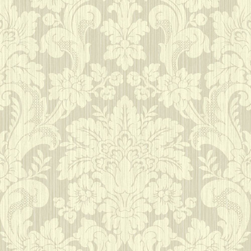 BM60507 Wallquest Wallcovering Balmoral Classical Damask Wallpaper Warm Neutral