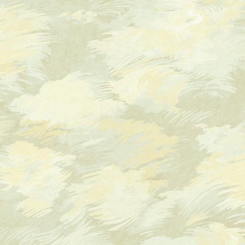 BM61407 Wallquest Wallcovering Balmoral Dreamy Faux Clouds Wallpaper Olive Gold