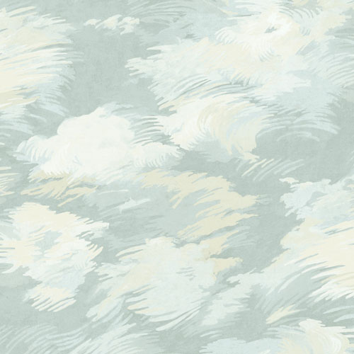 BM61412 Wallquest Wallcovering Balmoral Dreamy Faux Clouds Wallpaper Blue