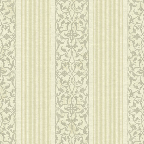 BM61701 Wallquest Wallcovering Balmoral Classically Decorated Stripe Wallpaper Light Gold