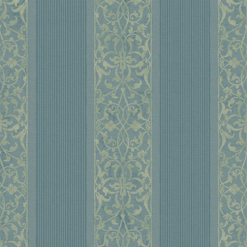 BM61702 Wallquest Wallcovering Balmoral Classically Decorated Stripe Wallpaper Navy